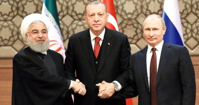 Dünyanın gözü Çankaya Köşkü'ndeki Türkiye-Rusya-İran zirvesine çevrildi