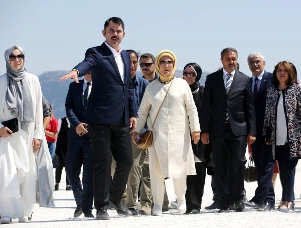 Emine Erdoğan, Salda Gölü'nde: Görünce mutmain oldum
