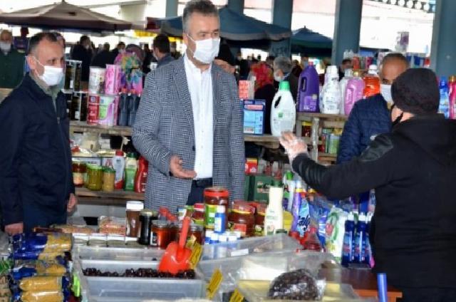 19 Mayıs ilçesinde kapatılan pazar yeri açıldı