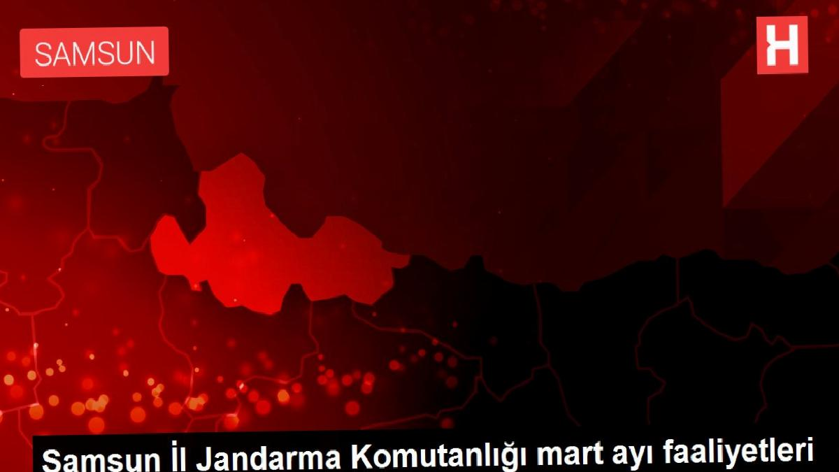 Samsun İl Jandarma Komutanlığı mart ayı faaliyetleri