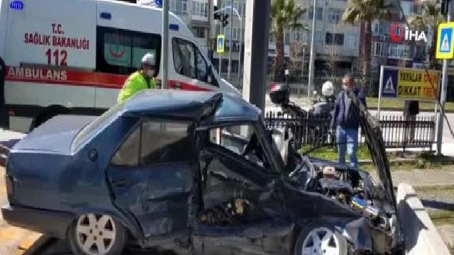 – Samsun'da iki otomobil çarpıştı: 1 yaralı