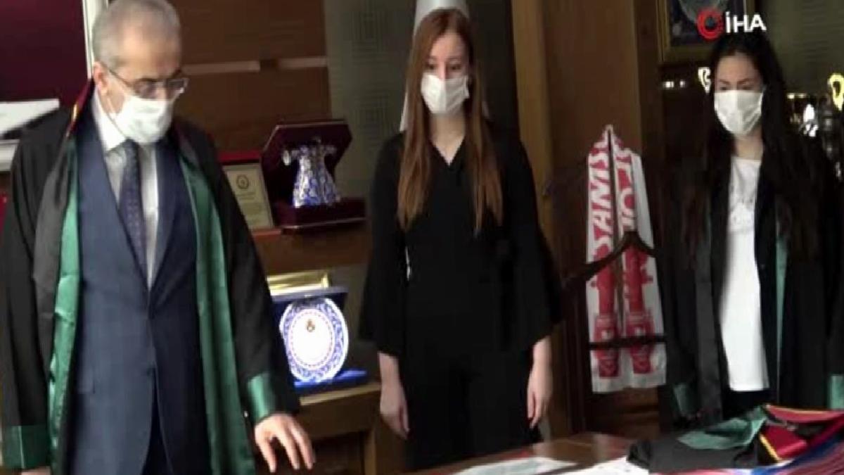 Samsun'da stajyer avukatlar cübbe giydi