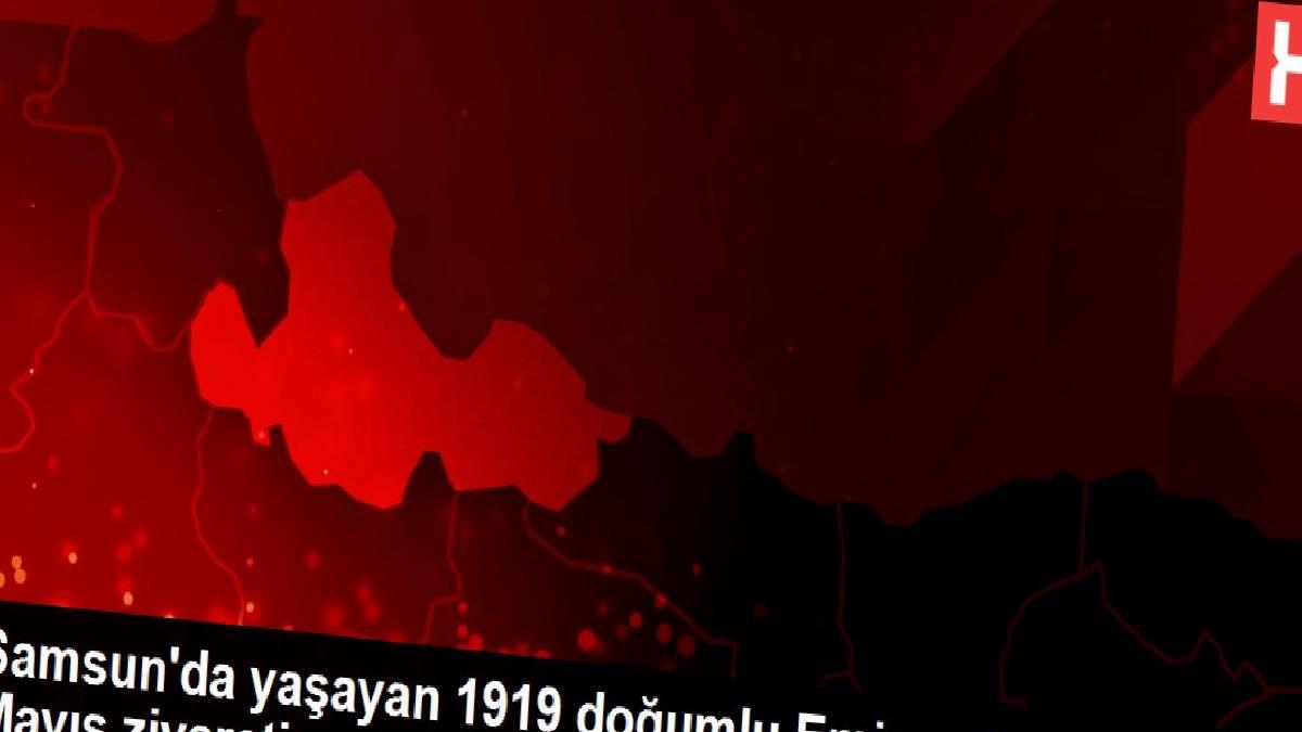 Samsun'da yaşayan 1919 doğumlu Emine nineye 19 Mayıs ziyareti