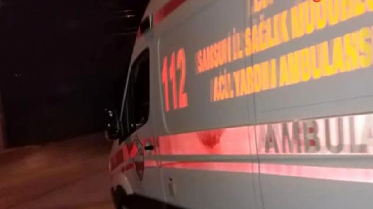 Freni patlayan kamyonet yol kenarında yürüyenlere çarptı: 2 yaralı