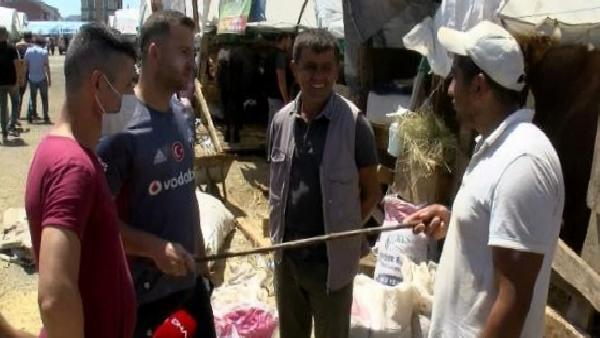/havadan fotoğraflar/ Sultangazi'de kurban satış alanında arife günü hareketliliği