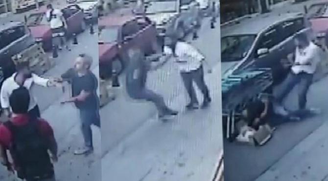 Kadıköy'de dehşet! Önce bıçakladı sonra defalarca tekmeledi