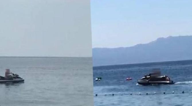Kadınlardan ihbar yağdı… Jet-ski'li tacizci şoku!