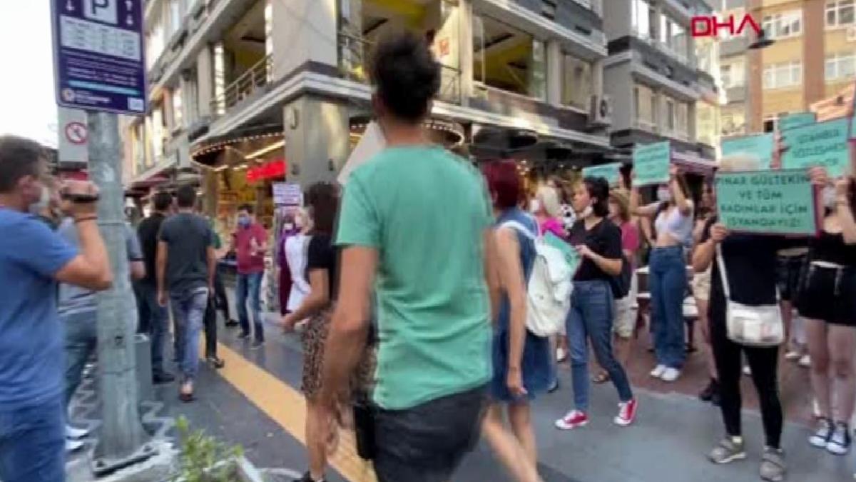 Pınar Gültekin cinayetini protesto eden kadınlara laf atan kişiye tepki