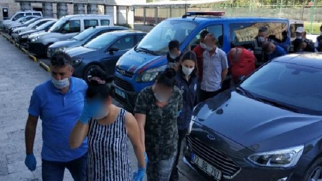 Samsun'da fuhuş operasyonundan 10 kişi adliyeye sevk edildi