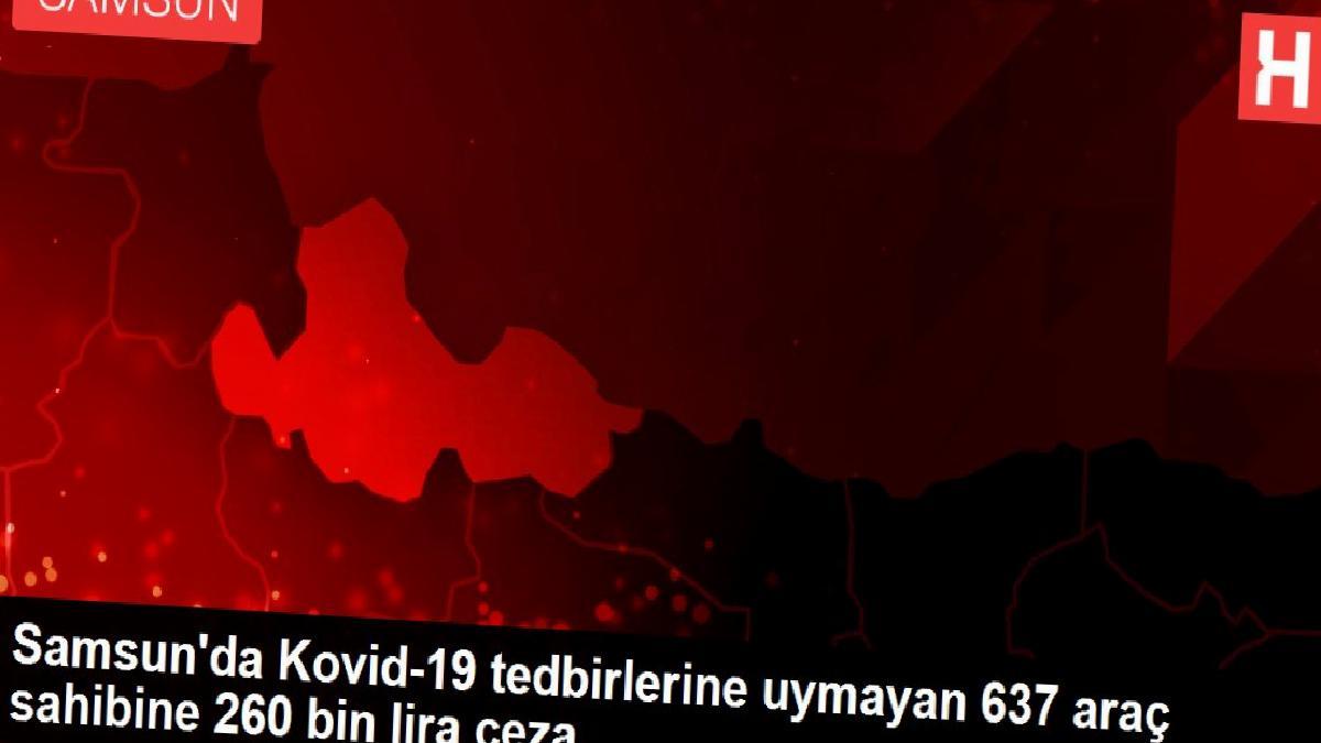 Samsun'da Kovid-19 tedbirlerine uymayan 637 araç sahibine 260 bin lira ceza