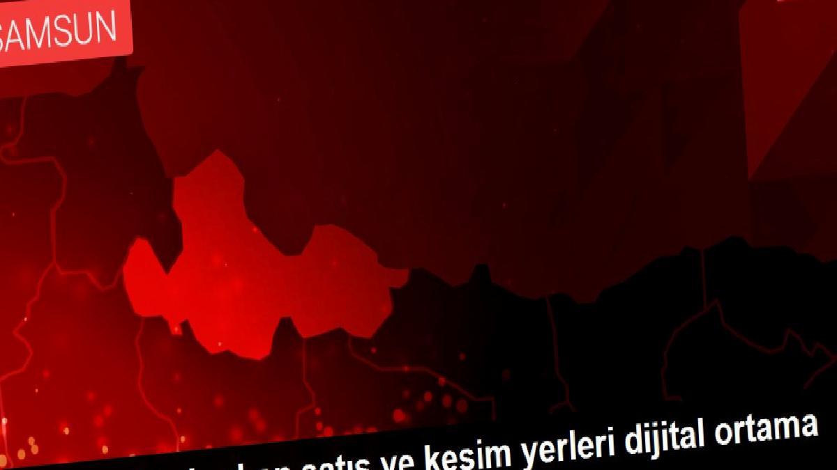 Samsun'da kurban satış ve kesim yerleri dijital ortama taşındı
