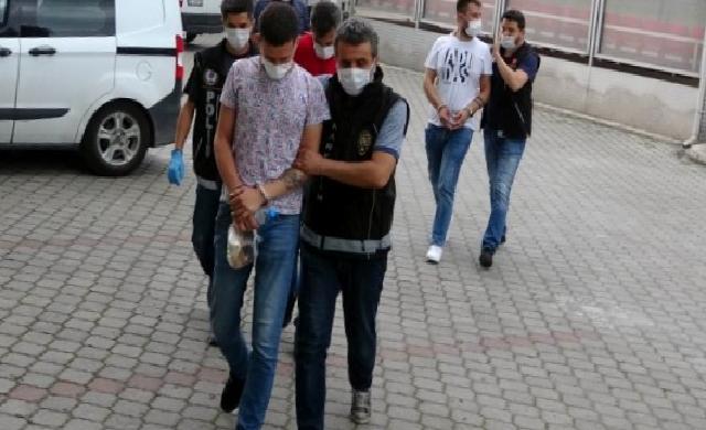 Samsun'da uyuşturucu ticaretinden 5 şahıs adliyede