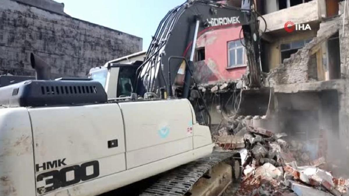 Son dakika haberi | Riskli metruk binalar yıkılıyor