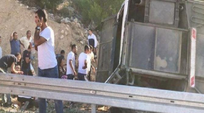 Son dakika… Mersin'de otobüs kazasından acı haber geldi! 5 şehidimiz var