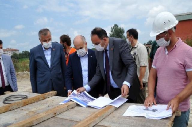 Vali Dağlı, yeni hükümet binası inşaatında incelemelerde bulundu