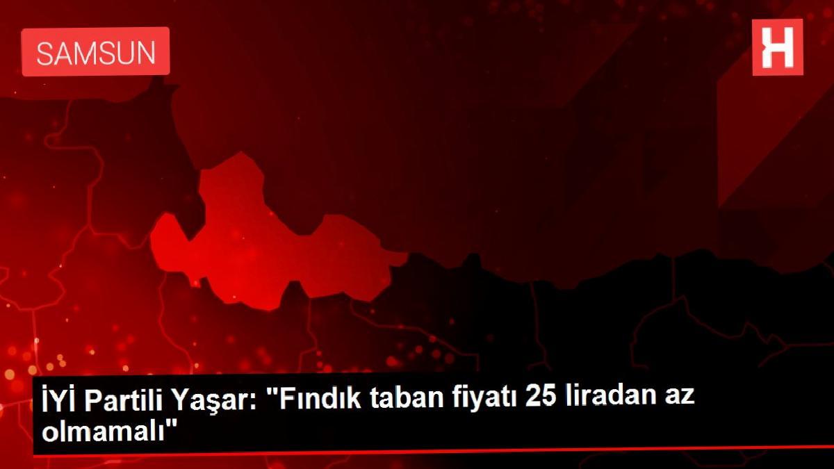 """İYİ Partili Yaşar: """"Fındık taban fiyatı 25 liradan az olmamalı"""""""