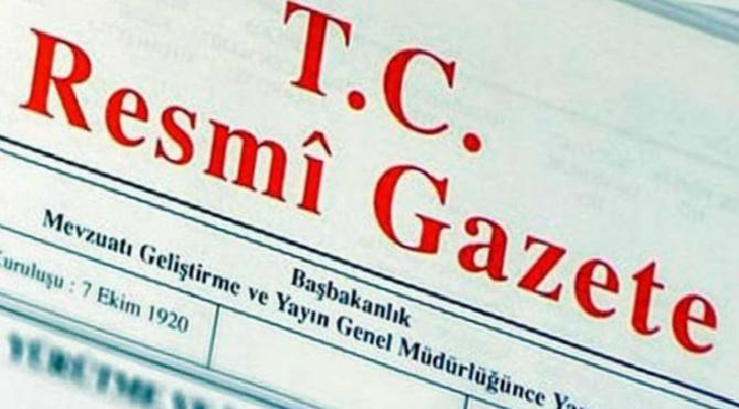 YAŞ kararları Resmi Gazete'de