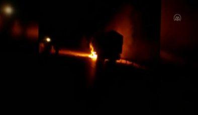 KIRIKKALE – Seyir halindeki şeker pancarı yüklü kamyon alev aldı