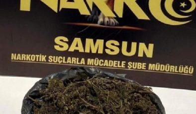 Samsun'da bir evde 1 kilo 311 gram esrar ele geçirildi