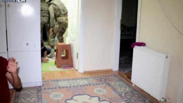 Samsun'da DEAŞ operasyonu polis kamerasında