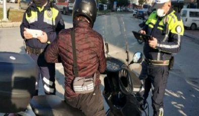 Trafik ekiplerinden motosiklet uygulaması