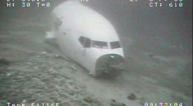 ABD açıklarında düşen kargo uçağının su altındaki fotoğrafları ortaya çıktı
