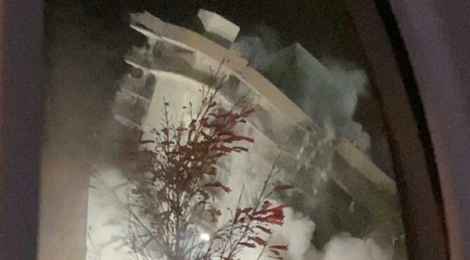 ABD'de facianın yaşandığı bina patlayıcılarla yıkıldı