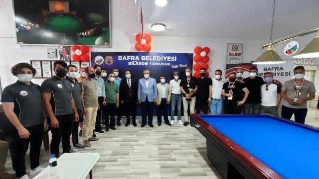 Bilardo turnuvası finali şölen havasında geçti