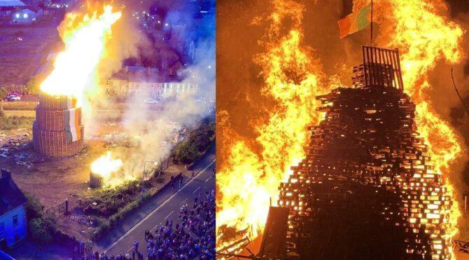 'On Birinci Gece' dev ateşler yakılarak kutlandı
