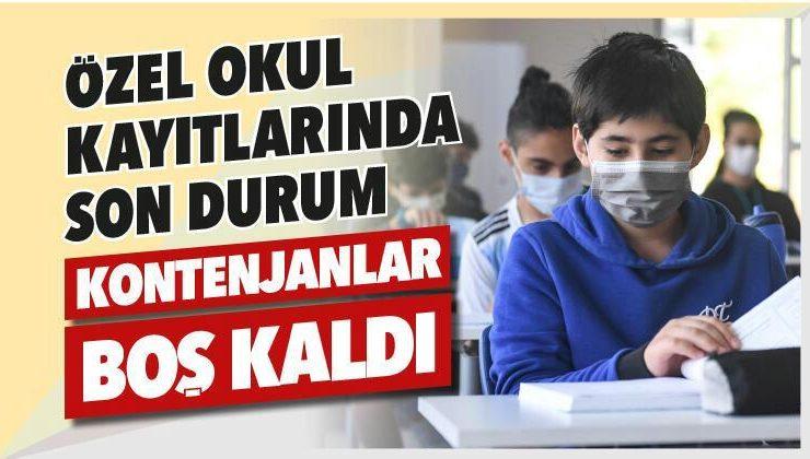 Özel okul kayıtlarında son durum: Kontenjanlar boş kaldı